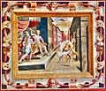 Saul scaglia la lancia contro David (Stellaert Marten e Congnet Gillis, 1567, Palazzo Giocosi, Terni).jpg