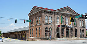 Central of Georgia Depot and Trainshed - The old Central of Georgia terminal building in 2015, now a visitor center