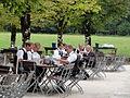Schönau am Königssee — Kellner beim Einrollen von Besteck.JPG