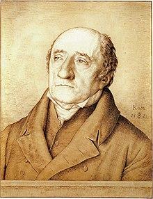 Karl Freiherr vom Stein, Zeichnung von Julius Schnorr von Carolsfeld, 1821 (Quelle: Wikimedia)