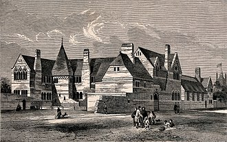 St Peter's School, Vauxhall - The school depicted in The Builder, 1860