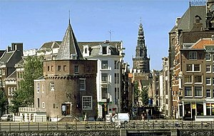 Walls of Amsterdam - The Schreierstoren tower (left)