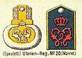 Schulterstücke, Ulanen-Regiment 20, Die Uniformen der deutschen Armee, Ruhl, Tafel 32.jpg