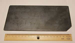 Blackplate - A piece of cut blackplate, 4 mm thick