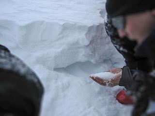 Depth hoar form of snow