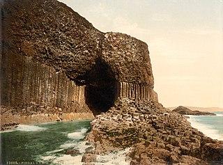 Sea cave in Scotland