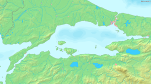 Sea of Marmara - Map of the Sea of Marmara