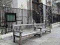 Seats outside St James Garlickhithe - geograph.org.uk - 1719634.jpg