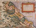 Sebastian Münster, Ptolemy. Terra Sancta XVI. NOVA TABVLA. Basel; Henricus Petri. 25.5 x 34.5 cm. 1540.jpg