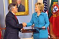 Secretary Clinton With Portuguese Foreign Minister Luis Amado at the U.S. Department of State in Washington, DC June 5, 2009 03.jpg