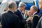 Secretary Kerry Arrives at Christchurch International Airport in New Zealand for a Bilateral Visit (30757664572).jpg