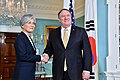 Secretary Pompeo Meets With Republic of Korea Foreign Minister Kang Kyung-wha (47443028022).jpg