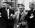 Sen. John F. Kennedy, ORNL Lab Dir. Alvin Weinberg and Sen. Gore visiting Oak Ridge (7097018361) (cropped).jpg