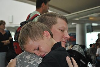 Florida National Guard - A young boy says a last goodbye to Dad before deployment.