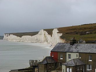 East Dean and Friston - Image: Seven Sisters from Birling Gap, Sussex, UK