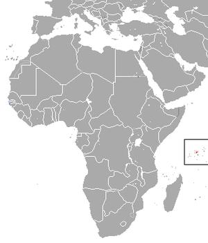 Seychelles sheath-tailed bat - Image: Seychelles Sheath tailed Bat area