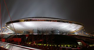 arena in the city of Shanghai, China