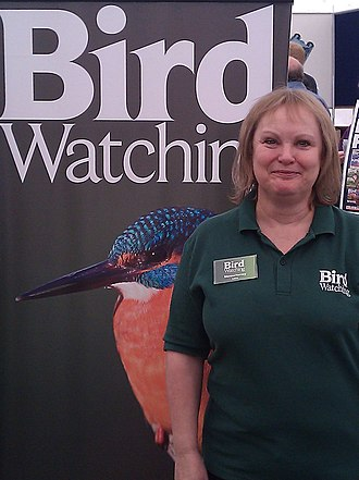 Bird Watching (magazine) - Editor Sheena Harvey at a birdwatchers' fair at Middleton Hall on 21 May 2011