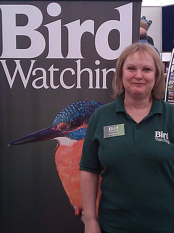 English: Sheena Harvey editor of Bird Watching...