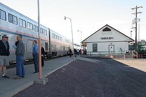 Shelby, Montana - Shelby's Amtrak station