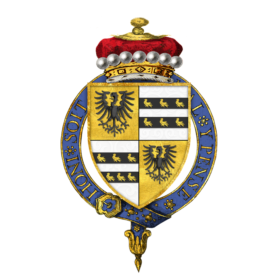 Shield of arms of Henry John Temple, 3rd Viscount Palmerston, KG, GCB, PC, FRS