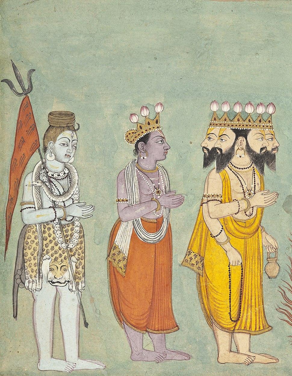 Shiva, Vishnu, and Brahma Adoring Kali LACMA M.80.101 (2 of 7)