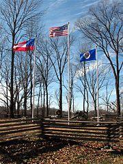 Shys Hill flags