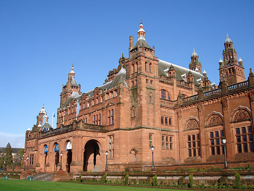 Kelvingrove Art Gallery and Museum is Glasgow's premier museum and art gallery, housing one of Europe's best civic art collections. Side View of the Kelvingrove Art Museum.JPG