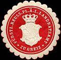Siegelmarke Fürstlich Reuss. Pl. Ä. L. Landratsamt zu Greiz W0204891.jpg