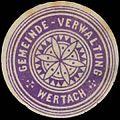 Siegelmarke Gemeinde-Verwaltung Wertach W0386621.jpg