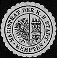 Siegelmarke Magistrat der Königlich Bayerischen Stadt - Kempten W0229143.jpg