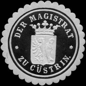Kostrzyn nad Odrą - German sealing stamp of the town