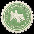 Siegelmarke Pr. Oberförsterei - Wildeck W0262752.jpg