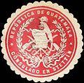 Siegelmarke Republica de Guatemala - Consulado en Stettin W0214865.jpg