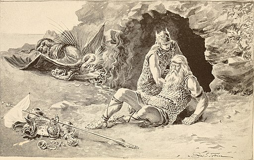 Siegfried, the hero of the North, and Beowulf, the hero of the Anglo-Saxons (1909) (14566833957)