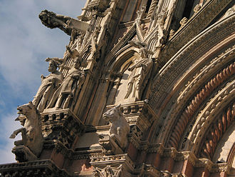 Giovanni Pisano - Giovanni Pisano began the facade of Siena Cathedral and provided its sculptures. (The sculptures are replicas.)