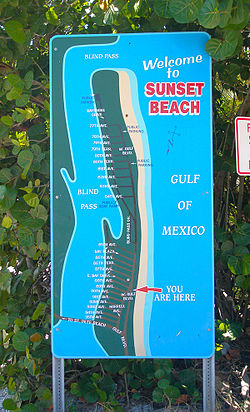 Sign Entering Sunset Beach Treasure Island Florida Oct 2017 Jpg