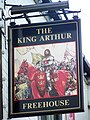 Sign for the King Arthur - geograph.org.uk - 1564901.jpg