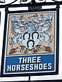 Sign for the Three Horseshoes - geograph.org.uk - 1395453.jpg