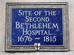 Site of the second bethlehem hospital (city of london)