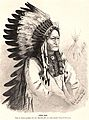 Sitting Bull, engraving by Rudolf Cronau, published in -Die Gartenlaube- in 1881.jpg