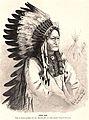 Sitting Bull, engraving by Rudolf Cronau, published in -Die Gartenlaube- in 1881.jpg