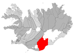 Location of the Municipality of Skaftárhreppur