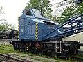 Skansen w Chabówce - dźwig kolejowy 05.JPG