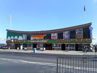 Skegness - The main entrance to Skegness Pier from North Parade