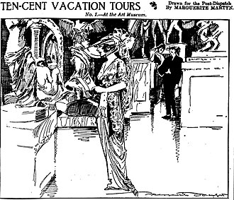 Saint Louis Art Museum - Interior of the museum as sketched in 1913 by Marguerite Martyn