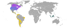 Skunk genera ranges
