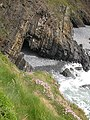 Small cove and cave, Hartland Quay - geograph.org.uk - 1318917.jpg