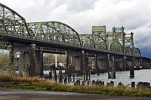 Washington State Route 529 - SR 529 crosses the Snohomish River on a pair of vertical-lift bridges.