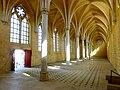 Soissons (02), abbaye Saint-Jean-des-Vignes, réfectoire, vue diagonale vers le nord-ouest 1.jpg